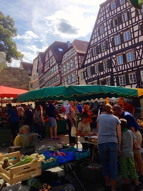 Marktstand-Schwaebisch-Hall